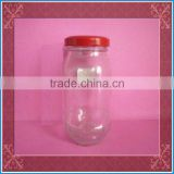 glass pickles jars with metal cap, glass pickles container