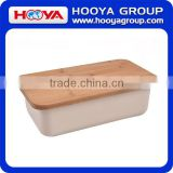 38x21x12 CM Bamboo Fiber Bread Box Bin with Cutting Board Lid Set