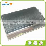 Promotion Leather&Metal Business Card Holder/High Quality PU&Metal Business NameCard Case