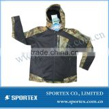 2013 OEM Hoody High Quality Camo Men's Outdoor Jacket, Camo Waterproof Hunting Jacket, Softshell Jacket