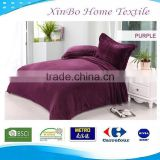 2015 Hot Sale Micro Soft Fabric Wholesale China Factory 100% Polyester Solid Flannel Bedding Set Home Fleece Blanket