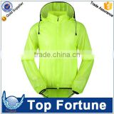 Custom lightest hooded rain jackets for women
