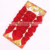 Hot Sale High Quality Red and Gold Bow-Knot Christmas Tree And Home Decoration Christmas Pendant