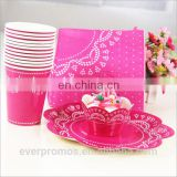 Party Decorating Supplies Princess Paper Banner Kit Hat Set Supplier