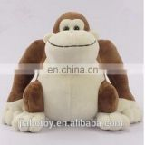 Customized Plush toy manufacturer big mouth brown promotional monkey toy