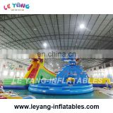 Dragon and Shark Water Park Used Inflatable Water Slide with pool for sale