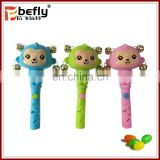 Monkey baby rattle toy novelty plastic candy containers