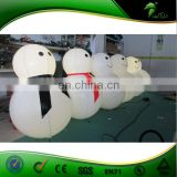 LED Lighting Inflatable Snowman Tumbler Christmas Style Inflatable Roly-poly Balloon Christmas Ornament