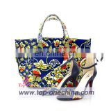 African wax shoes and bags holland and super wax high heel shoes matching bags for party
