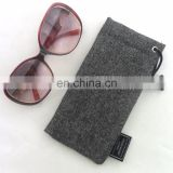 Gray Soft Sunglass Case - Soft Eyeglass Pouch - Reading Glasses Case