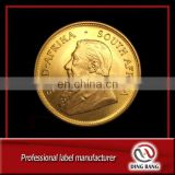 Custom Fake South Africa Tungsten Gold Plated Coin