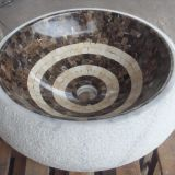 Marble Mosaic Wash Basin Bathroom Mosaic Sink