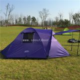 3 Person Hiking Tent Nylon Fabric High-density Mesh