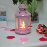 Portable Metal Hanging Lantern Iron Art Star Candle Lamp for Festival/Christmas Decoration