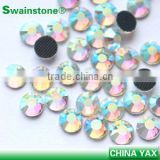 YAX factory Low lead hot fix rhinestone crystals, ss16 ab stones rhinestones; korean rhinestone low lead