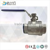 1 inch stainless steel two piece ball valve