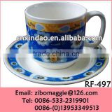 Beautiful Hot Sale Daily Used Porcelain Promotion Custom Designed Espresso Coffee Cup Saucer with Good Quality