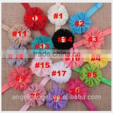 Baby ballet wholesale crystal hair accessories broad headband flower hairband MY-AC0070