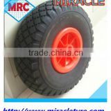 Free wheel manufacturere small solid PU foam wheel rubber wheelbarrow tire 260x85 3.00-4