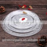 china cheap wholesale plates set/clear glass charger plates wholesale                                                                         Quality Choice