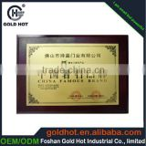 China supplier wholesale metal +wood corporate award                                                                         Quality Choice
