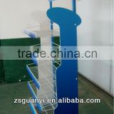 Customized supermarket display rack with iron wire basket
