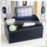 Christmas season hot promotion leather car tissue box holder storage box for home furniture