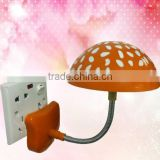 2014 Lovely mushroom light , Mulityfuncation Colors changing nigt light 3D Marshroom silicone LED night lamp with ray sensor