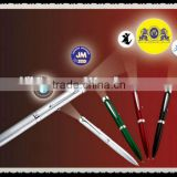 2014 hot selling projector pen for promotional gifts, led flashlight pen for school and office supplies