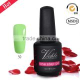100 colors ,three in one step gelnail polish , no base and top coat , just 2 coats of color