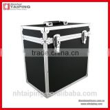 "Aluminum frame DJ FLIGHT CASE 70 VINYL LP 12"" RECORD STORAGE BOX BLACK                                                                         Quality Choice"