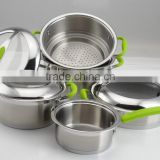 kitchen appliance stainless steel cookware sets rice cooker double side grill pan frying pan