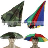 Fordable HeadBand Ajustable SunShade Umbrella Hat Cap Sun Shade for Camping Fishing Hiking Festivals Outdoor Brolly