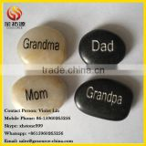 Natural polished river stone engraved inspired words rocks                                                                         Quality Choice