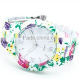 Beautiful full print flower womens watch custom printed watches for girl