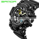 Fashion SANDA Sports Brand Watch Men's Digital Shock Resistant electronic watch Alarm Outdoor Military LED Casual Watches