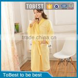 ToBest Hotel supplies wholesale super soft kimono waffle weave bath robe,fancy microfiber bathrobe,women towel bathrobe