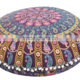 "Large Indian Floor Pillows Mandala Tapestry Throw Cotton 32"" Shams Boho Ethnic Decor Hippie Art"