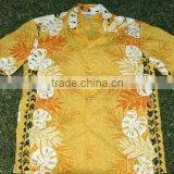 high quality short sleeve match design cotton mens hawaiian shirt