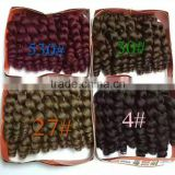 2X Bounce Twist crochet wand curl braid hair extensions afro kinky synthetic braiding hair jumbo crochet twist box braids hair