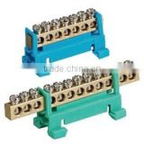 12-ways Copper Terminal Block Connector(brass terminal,terminal connector) (GS01-0690)