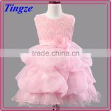 Hot selling wholesale boutique handmade flowers girls frocks lace wedding dresses TR-WS13
