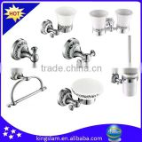 Chrome plated brass sanitary hardware set , bathroom accessories set from Kingslam