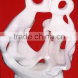 Abstract Nude Man And Woman With Heart Around Marble Statue For Gift Hand Sculpture Carving Stone