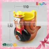 Babypro 2015 Hot New China Supplier Innovative Baby Product Cartoon Drinking Cup With Handle Plastic Hot Drinking Cup