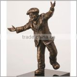 Antique Metal Cast Brass Life Size Man Statue Sculpture for Sale