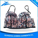 Color Print Young Sexy Girls Swimwear Sexy Hot Lady Bikini Women Tankini Thong Tankini Tube Top Bikini