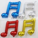 Wholesale colorful musical notes balloon foil helium balloons for wedding party decoration,classic toys