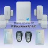 2014 hot sale with APP android and Iphone IP cloud wireless home alarm security system fc-300