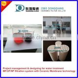 ceramic microfiltration membrane for wine filtration with PLC control